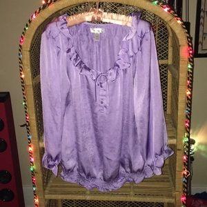 💜Dressbarn 1X Beautiful purple top!